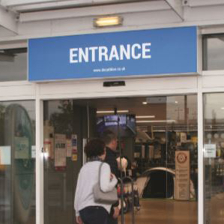 Smooth entrance ensured at Decathlon stores