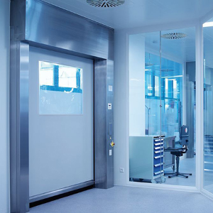 EFAFLEX high-speed doors designed for cleanrooms