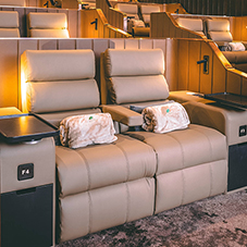 Ferco Seating provides luxurious seating for boutiqe Aurum Theatre