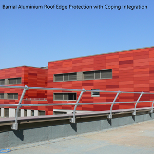 Barrial aluminium roof edge protection from Dani Alu UK