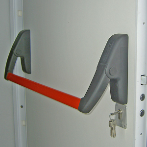 Shaw Security's multi-point locking fire exit door