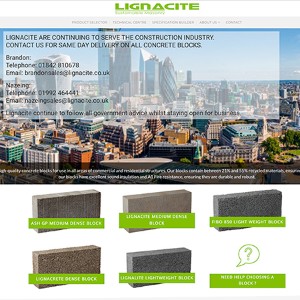 Lignacite unveil new website providing you with the tools for the future
