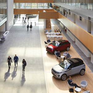 Strong and durable Junckers flooring installed at Jaguar Land Rover