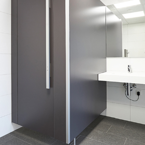 The new flush fronted cubicle from KEMMLIT UK: NiUU one