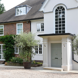 Traditional windows and doors were installed at the Coombe Hill Estate