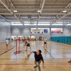 Indoor sports facility receives new acoustic wall system