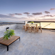 Terrace access achieved using box rooflight to highlight ocean views