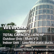 LG Electronics deliver their Multi V 5 VRF system to WeWork's Aviation House