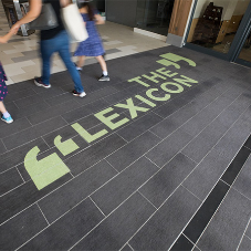 Eye catching entrance matting at The Lexicon in Bracknell