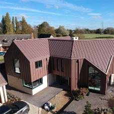 Standing seam zinc roof build up options