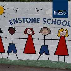 Enstone Primary School welcome children back with a refreshed mural