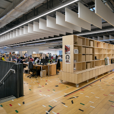 Junckers reinvents old sports floor into new office floor