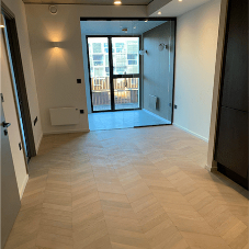 Stylish solid wooden flooring for residential tower in Manchester