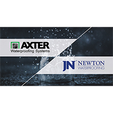 Newton and Axter partner to combine waterproofing expertise
