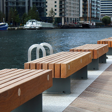 Artform Urban Furniture supply bespoke wooden benches to Canary Wharf development