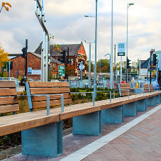 Bailey Streetscene seating helps to make Ashton transport interchange more passenger friendly