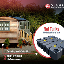 Inconspicuous waste tanks installed by Glampsan at Cumbrian Glamping retreat