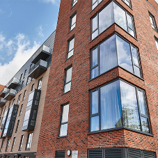 High specification AluK windows and doors in new Cardiff Bay development