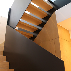 Feature staircases for luxury apartments at BBC Television Building