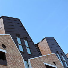 Zinc roofing and cladding for Housing: 83 Barchester Street, Poplar