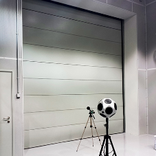 High performance acoustically insulated motorised overhead doors from Acustica Integral