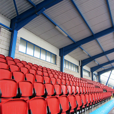 Spectator Seating at the Shildon-Sunnydale Leisure Centre