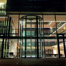 6.2m high revolving door is installed at Icelandic Bank