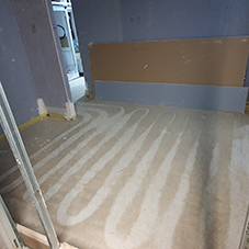 ForceDry defy the weather and produce fantastic screed drying results on site