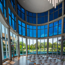 Dynamically controlled SageGlass for Bowie State University in Maryland