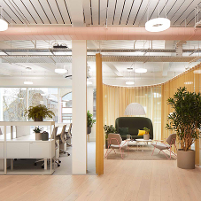 Transformation of 1980s office building into vibrant new workspace