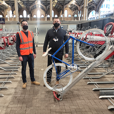 New cycle racks from Cyclepods Ltd installed at Liverpool Street station