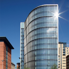 Eleven Brindleyplace features Reynaers aluminium curtain walling systems