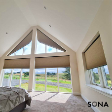 Looking for the wow factor? Let SONA's smart blinds enhance your project