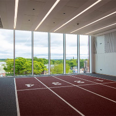 Leeds Beckett Uni have a brand new acoustically sound indoor running track