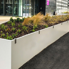 AKRI raised planters from Furnitubes for Manchester Innovation Centre