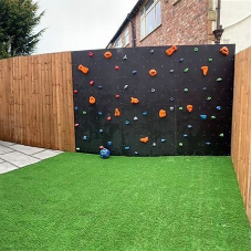 Bespoke climbing walls offer an entertaining addition to garden renovations