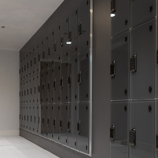 Helmsman Luxury Glass Lockers for Birmingham Office