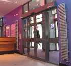 Doorsets, automatic control: Slidedoor, Swingdoor, Revolvedoor, Foldoor automatic entrances