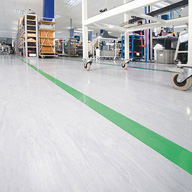 Flexible floor tiles/sheets: static-control