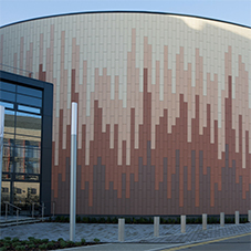Rainscreen cladding: terracotta, glass, stone, ceramic