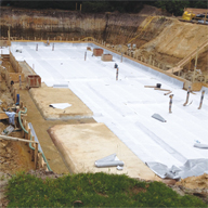 Externally Applied Waterproofing Membrane: Newton 403 HydroBond