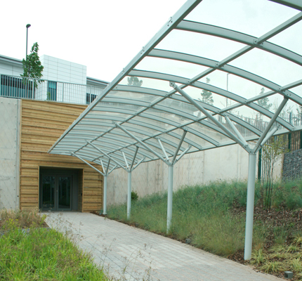 ADI covered walkway, Peugeot Technology Centre