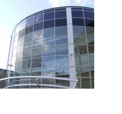Lightspan curtain-walling at Antonine Shopping Centre, Cumbernauld
