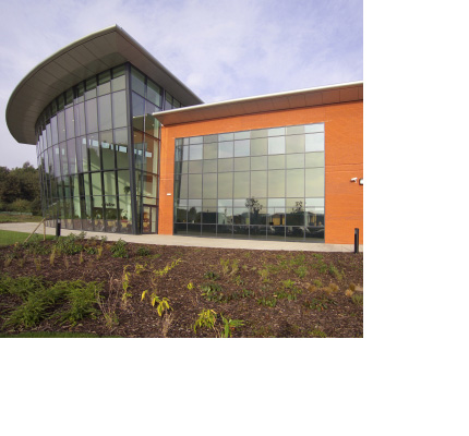 Lightspan curtain-walling at Stephenson College, Coalville