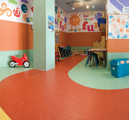 Polyflor Mystique PUR, Munchkinland play centre, Australia
