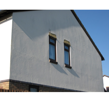 Residential property before refurbishment with RoyalCrest cladding