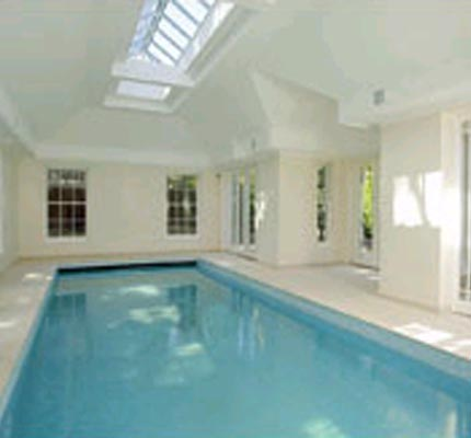 Conservation timber sash windows in the pool room