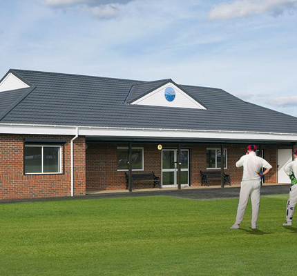 The new modular built Privett Park Cricket Club pavilion.