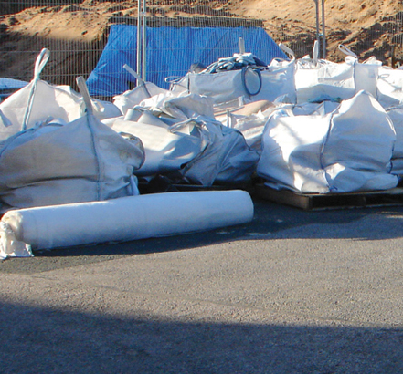 Waste material awaiting recycling