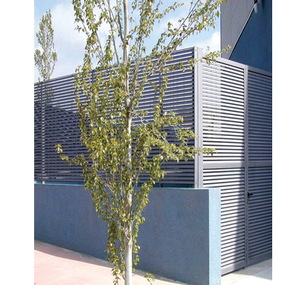 Talia®80 fence with 3m high gate, polyester powder coated